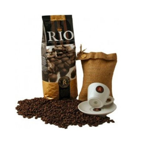 Espresso Coffee Beans - Rio Espresso Oro Barista Ground Coffee (1kg) Italian Roast Coffee