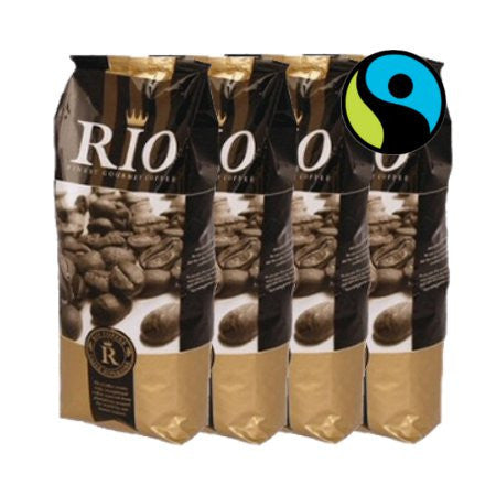 Rio Fairtrade Coffee Beans (4 x 1 kilo) Buy 10 - FREE MACHINE