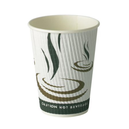 12oz Triple Wall Ripple Paper Cups 500 (340ml)