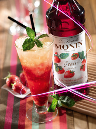 Monin Strawberry Flavouring Syrup (1 Litre) - DiscountCoffee