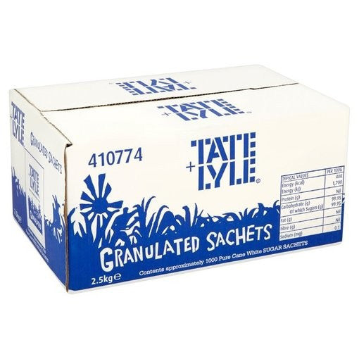 Tate & Lyle White Sugar Sachets Pack of 1000 - DiscountCoffee