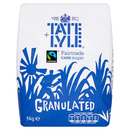 Tate & Lyle Fairtrade Granulated White Sugar 5kg - DiscountCoffee