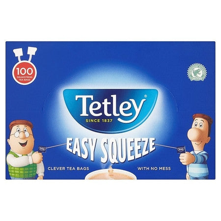 Tetley Easy Sqeeze Teabags (12 x 100) - DiscountCoffee