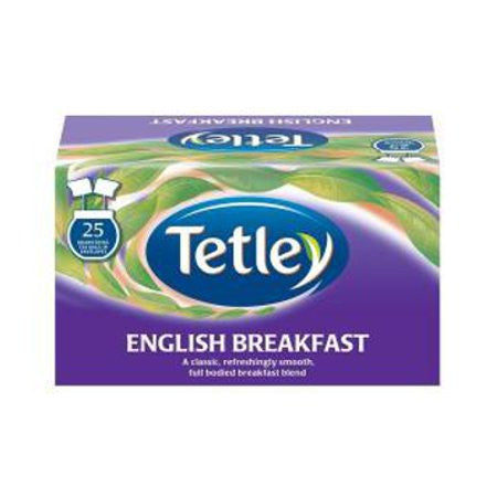 Tetley English Breakfast Teabags (25) - DiscountCoffee