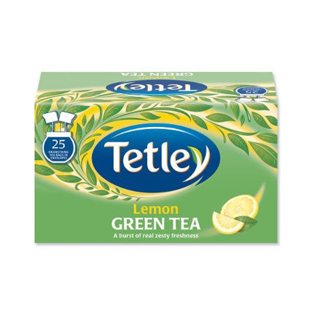 Tetley Green Tea - Lemon (25 bags) - DiscountCoffee