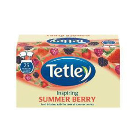 Tetley Summer Berry Fruit Infusion (25 bags) - DiscountCoffee
