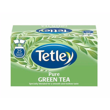 Tetley Green Tea - Pure (25 bags) - DiscountCoffee