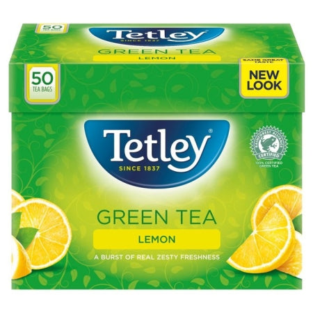 Tetley Green Tea - Lemon (50 bags)