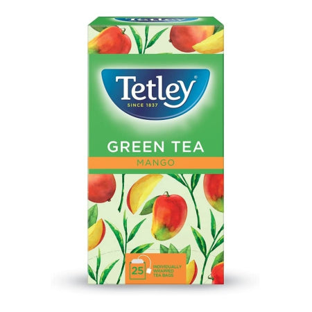 Tetley Green Tea - Mango (25 bags)