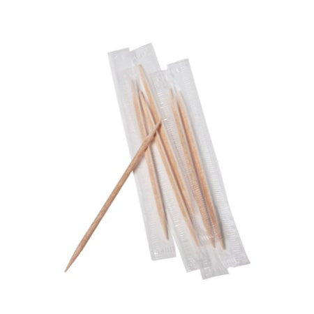 Individually Wrapped Wooden Toothpicks (1000) - DiscountCoffee