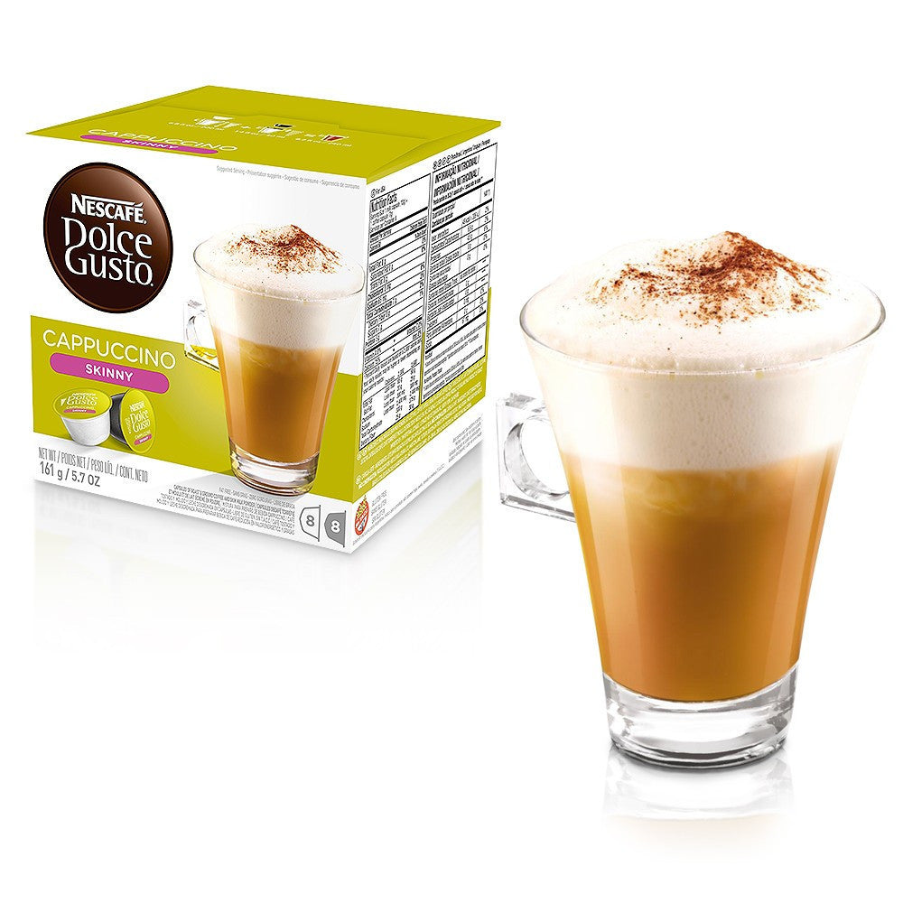 nescafe dolce gusto skinny cappuccino coffee pods 16 discountcoffee. Black Bedroom Furniture Sets. Home Design Ideas