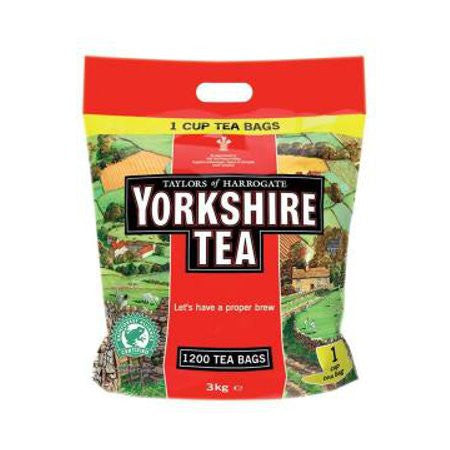 Yorkshire Tea Bags (1200) - DiscountCoffee