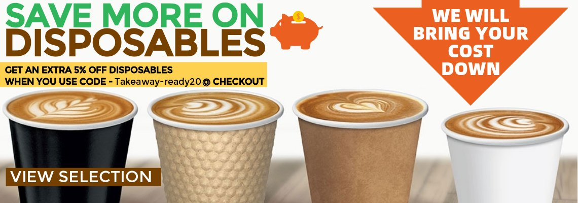 Save more on disposables | Discount Coffee