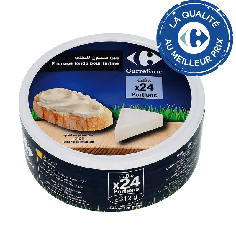 Fromage fondu 24 portions CARREFOUR