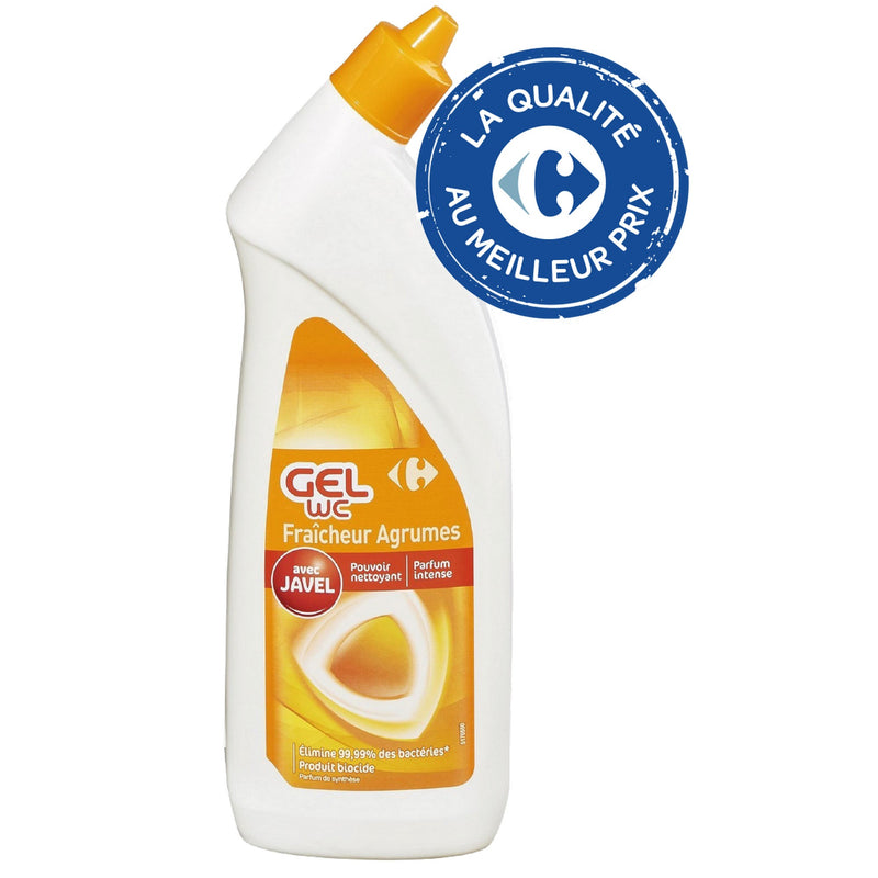 Gel javel WC agrumes 750ml CARREFOUR