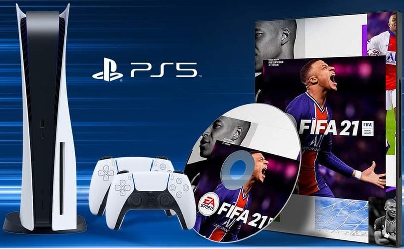 PS5 + 2 manettes + FIFA 2021