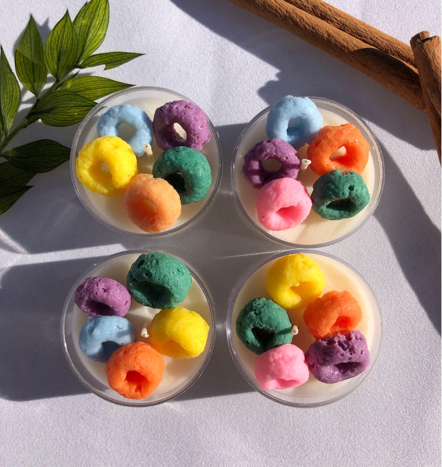 FRUIT LOOP TEALIGHT SOY CANDLE SET