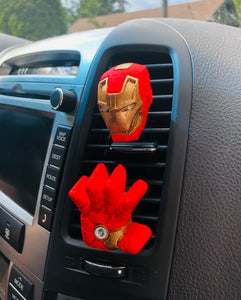 IRON MAN PLASTER CAR AIR FRESHENER SET