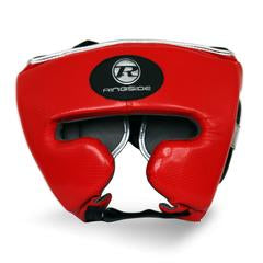 RINGSIDE -Pro Fitness Red/Silver Head Guard Synthetic Leather