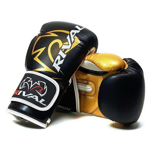 RIVAL- RB7  BLACK/GOLD FITNESS PLUS BAG GLOVES
