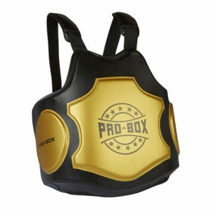 PROBOX-HI-IMPACT COACHES BODY PROTECTOR BLACK-GOLD.