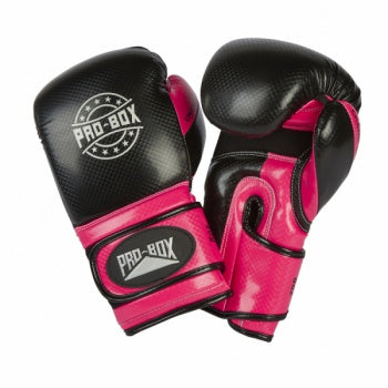 PROBOX-JUNIOR CHAMP SPAR' BLACK/FUCHSIA GLOVES
