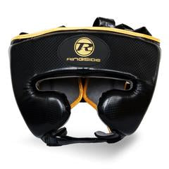 RINGSIDE -Pro Fitness Black/Gold Head Guard Synthetic Leather