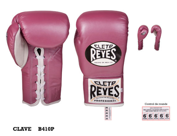 CLETO REYES-PINK 'Safetec' Pro Fight Boxing Gloves