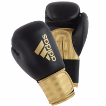Load image into Gallery viewer, ADIDAS-Hybrid 100 BLACK/GOLD Boxing Gloves