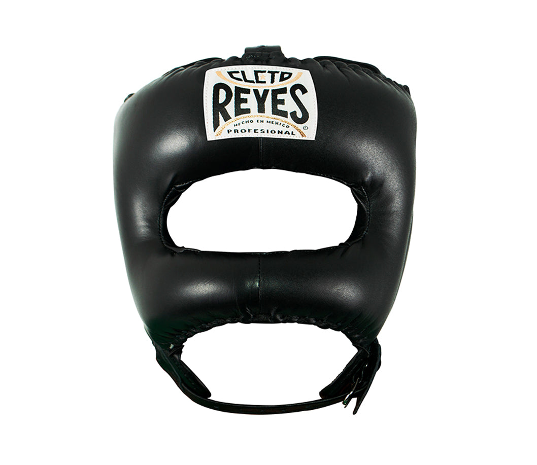 CLETO REYES-BLACK Headguard with Nylon Pointed Face Bar