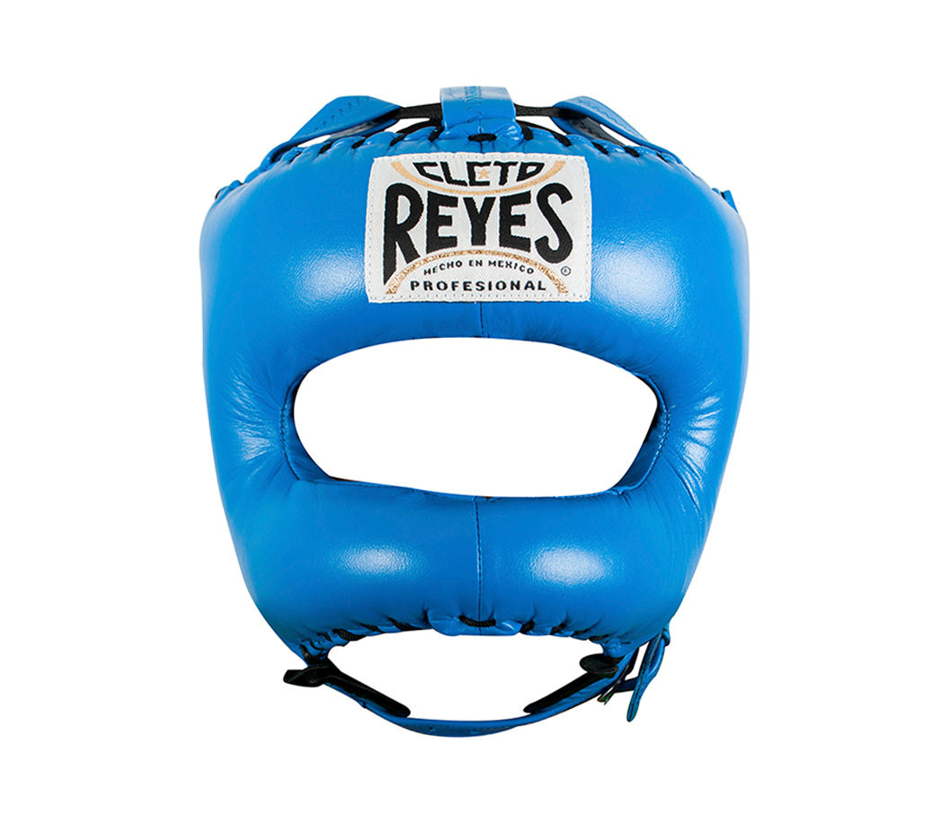 CLETO REYES-BLUE Headguard with Nylon Pointed Face Bar