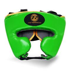 RINGSIDE -Pro Fitness Green/Gold Head Guard Synthetic Leather