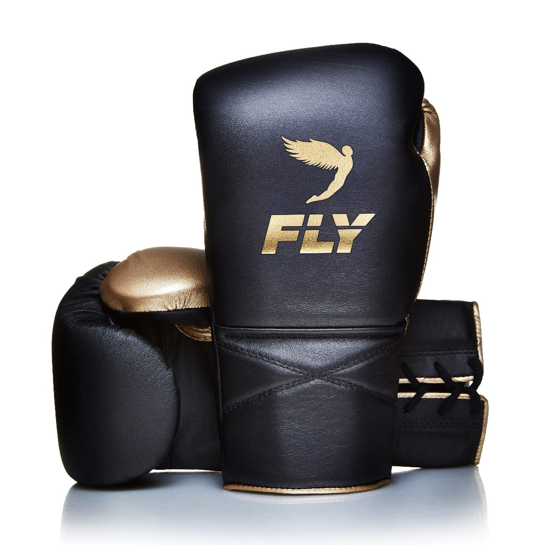FLY-SUPERLACE  BLACK/MATT GOLD TRAINING GLOVES