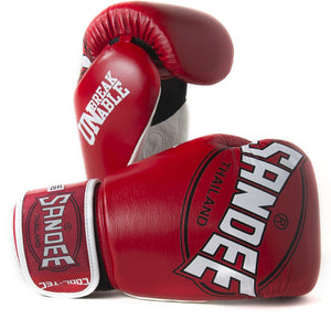 SANDEE-JUNIOR Cool-Tec Velcro Red, White & Black Synthetic Leather Boxing Glove