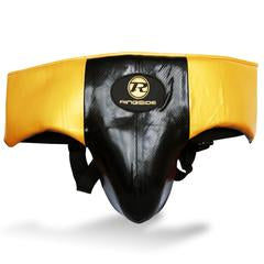 RINGSIDE-Pro Fitness Black/Gold Groin Guard Synthetic Leather
