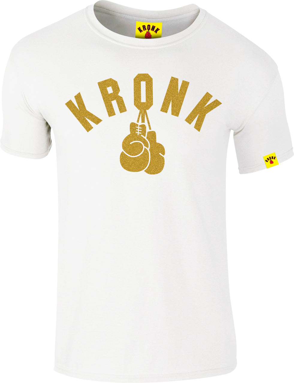 KRONK-One Colour Gloves Slim fit T Shirt White