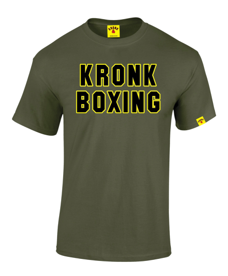 KRONK- Boxing Classic T Shirt Military Green