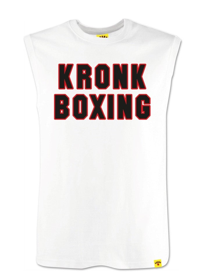 KRONK- Boxing Sleeveless T Shirt White