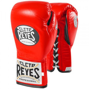 CLETO REYES-RED 'Safetec' Pro Fight Boxing Gloves