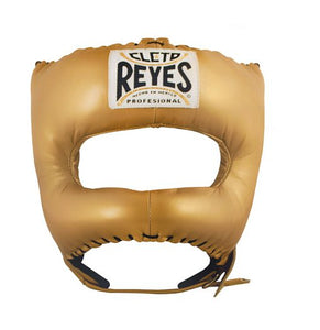 CLETO REYES-GOLD Traditional Headgear with Nylon Face Bar