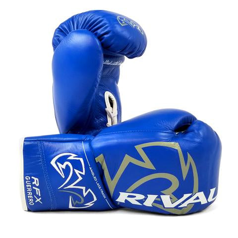 RIVAL-RFX-GUERRERO HDE-F BLUE PRO FIGHT GLOVES