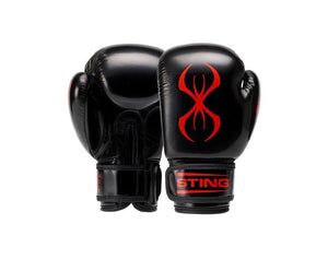 STING-JUNIOR ARMA BLACK/RED BOXING GLOVES
