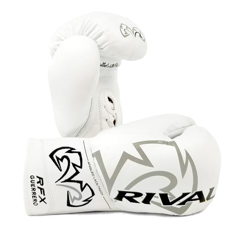 RIVAL-RFX-GUERRERO HDE -F WHITE PRO FIGHT GLOVES