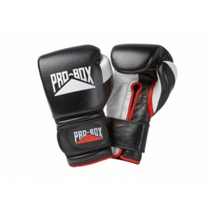 PROBOX-PRO-SPAR' BLACK LEATHER GLOVES