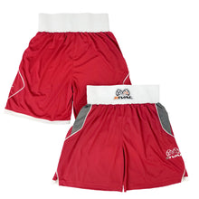 Load image into Gallery viewer, RIVAL-AMATEUR RED COMPETITION/TRAINING BOXING TRUNKS