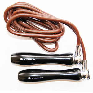 ringside-Black Coated Handle Leather Skipping Rope