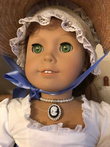 Cameo Pearl Necklace for American Girl Dolls Felicity Elizabeth Caroline Marie Grace