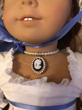 Load image into Gallery viewer, Cameo Pearl Necklace for American Girl Dolls Felicity Elizabeth Caroline Marie Grace