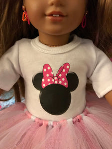 Minnie Mouse Pink Polka Dot Ears Tshirt & Tutu