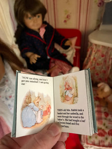 Peter Rabbit & Tom Kitten Miniature Books for American Girl Molly